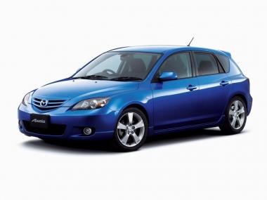 Коврики из экокожи 3D  Mazda Axela (правый руль) 2003 - 2009 (хэчбек)