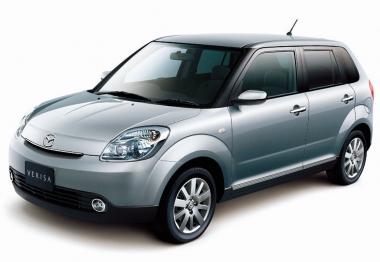 Коврики из экокожи 3D  Mazda Verisa 2004 - наст. время (правый руль)