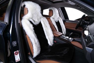 Накидки на сидения автомобиля из искусственного меха Накидки из искусственного меха комбинированный ворс