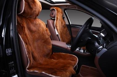 Накидки из меха дорогих пород (лиса, волк, енот, норка, выдра, кролик)  Накидки из меха волка на сиденья автомобиля