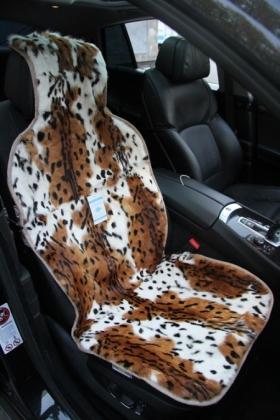 Накидки из меха дорогих пород (лиса, волк, енот, норка, выдра, кролик)  Накидки из меха леопарда на сиденья автомобиля