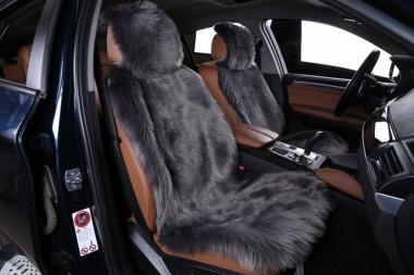 Накидки из шерсти на сиденья автомобиля Накидки из искусственного меха на сиденья автомобиля Длинный ворс