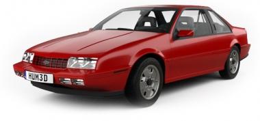 Коврики из экокожи 3D  Chevrolet Beretta 1987-1996 г