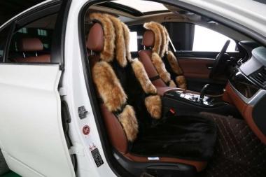 Накидки на сидения автомобиля из искусственного меха дорогих пород Накидки на сидения автомобиля из искусственного меха
