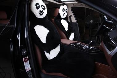 Детские накидки в автомобиль Накидки на сиденья автомобиля из Овчины «Панда»