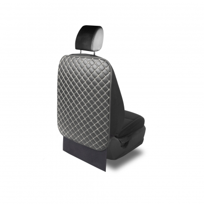 Накидки на спинку сидения Защитная накидка на спинку сиденья автомобиля из экокожи с двойной прострочкой