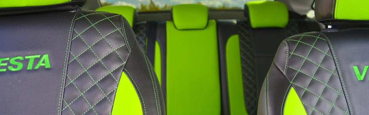 Зеленые автомобильные чехлы