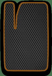 EVA коврик черный с коричневым кантом