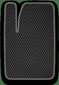 EVA коврик черный с серым кантом