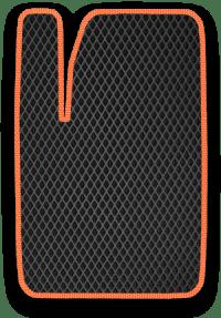 EVA коврик черный с оранжевым кантом