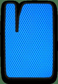 EVA коврик синий с черным кантом