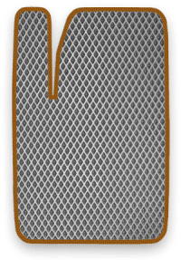 EVA коврик серый с коричневым кантом
