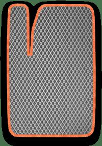 EVA коврик серый с оранжевым кантом