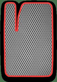 EVA коврик серый с красным кантом