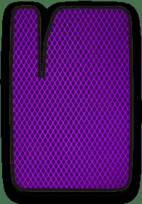 EVA коврик фиолетовый с черным кантом