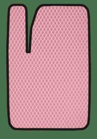 EVA коврик розовый с черным кантом
