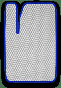 EVA коврик белый с синим кантом