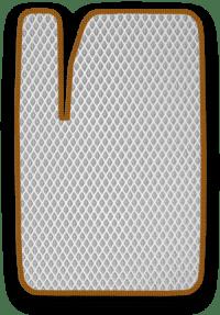 EVA коврик белый с коричневым кантом