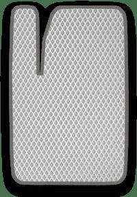 EVA коврик белый с серым кантом
