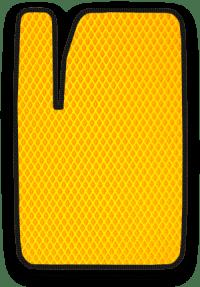 EVA коврик желтый с черным кантом