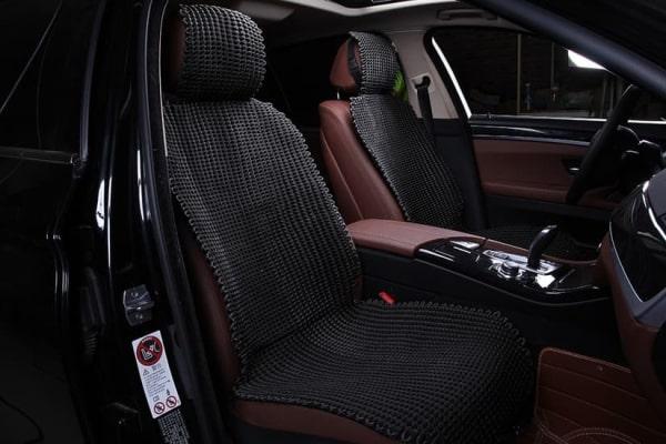 Накидка на сиденье из ткани черная