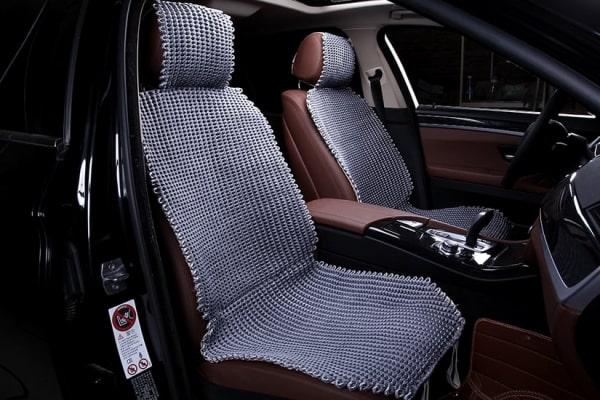 Накидка на сиденье из ткани серая